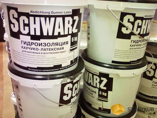 Фото - Гидроизоляция Шварц (Стенотек), ведро 5 кг